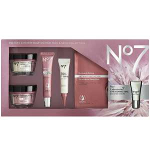 Boots No7 Restore & Renew FACE & NECK MULTI ACTION Collection £38.66 @ Boots