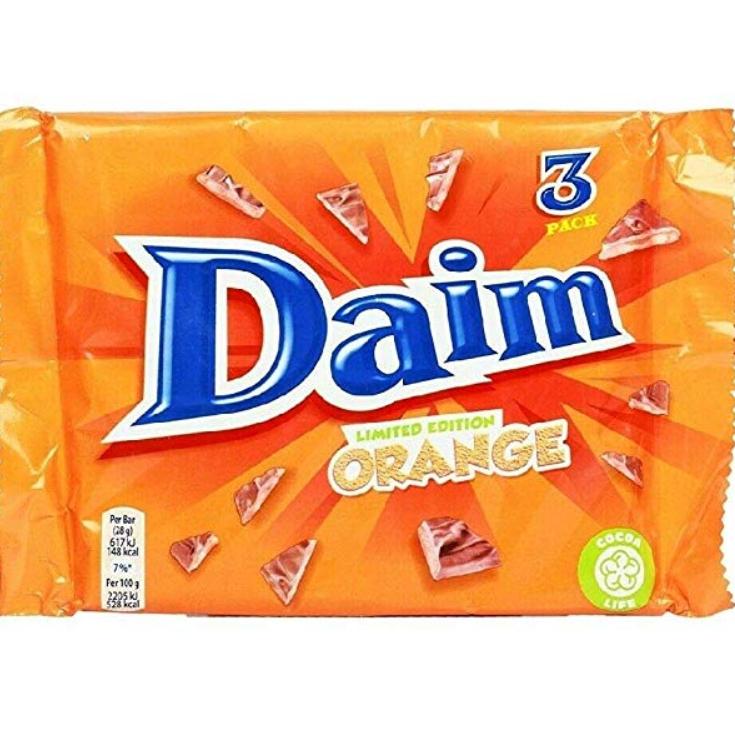 Daim Orange 3 pack (84g) 49p @ B&M