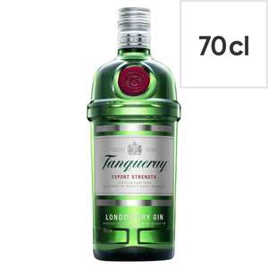 Tanqueray London Dry Gin 70cl £15 at Tesco
