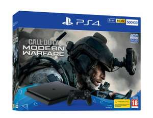 PS4 Slim 500GB Console with Call of Duty Moderm Warfare OR FIFA 20 £195.49 from eBay ShopTo using code