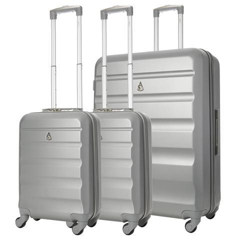 Aerolite Hard Shell Suitcase Luggage Bundle (2 x Cabin Hand Luggage + 1 x Large Hold Luggage Suitcase) for £64.99 delivered @ Packed Direct