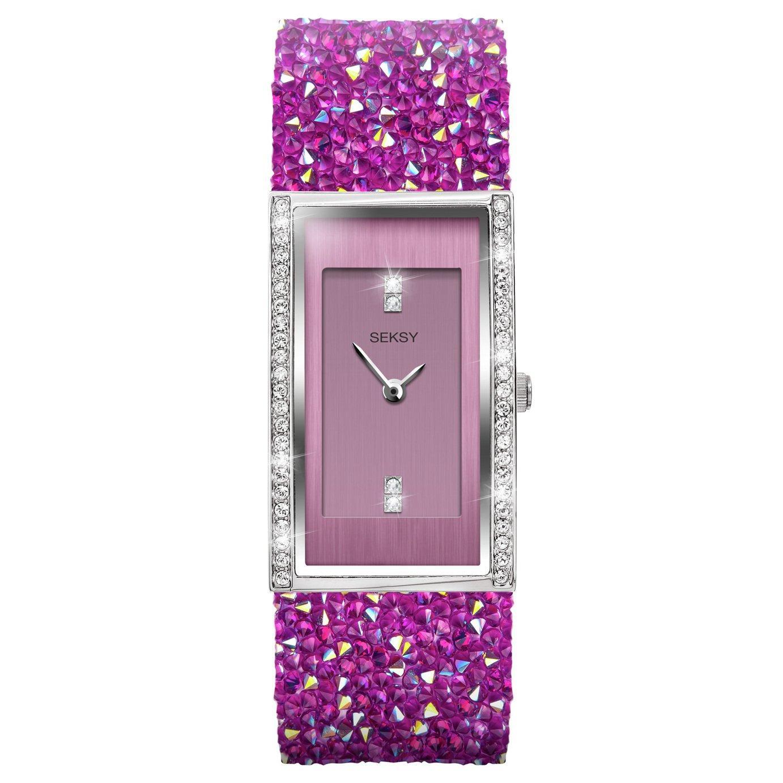 Seksy by Sekonda Ladies Pink Crystal Leather Strap Watch - £79.99 @ Argos