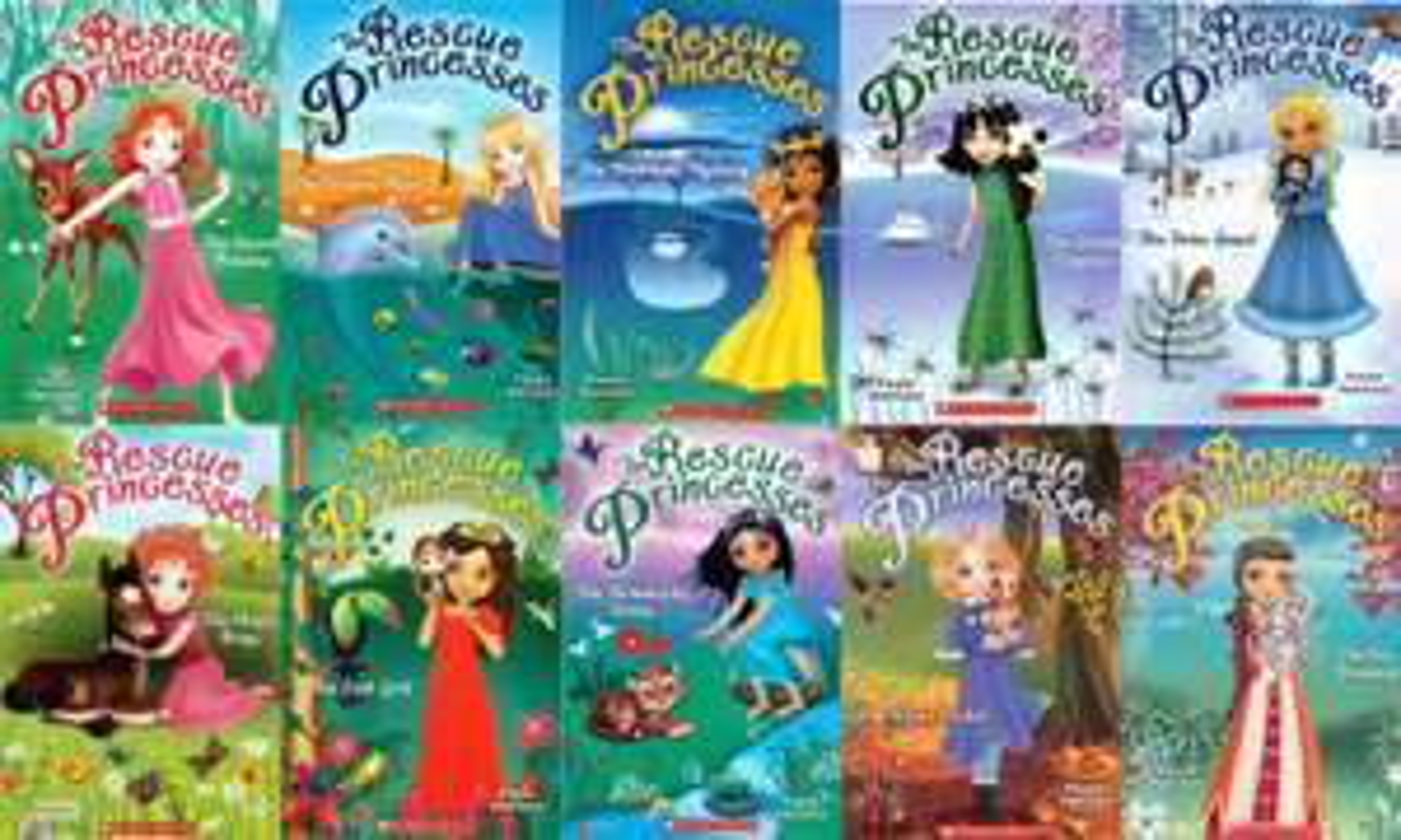 The Rescue Princesses 10 Books Set £9.99 Paperback By Paula Harrison @ TK Maxx (£1.99 C&C)