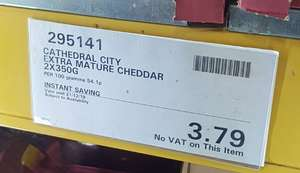 Cathedral City Mature/Extra Mature Cheese 2 x 350g at Costco £3.79