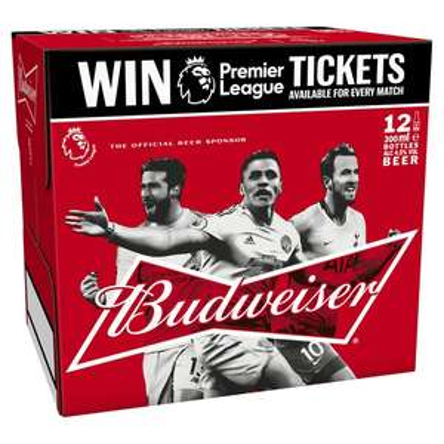 Budweiser Bottles 330ml x 12 at Nisa for £7