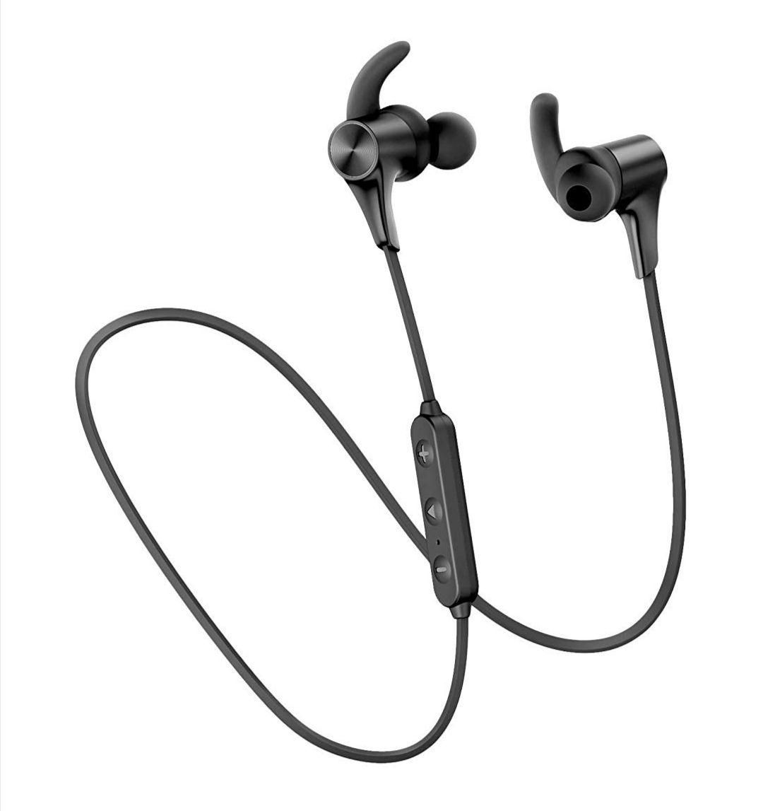 SoundPEATS Q12 HD, Bluetooth 5.0 IPX6 Sweatproof Wireless Headphones APTX High Definition Bluetooth £19.99 + £4.49 NP @ TEKTEK EU FB Amazon