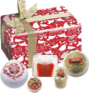 Bomb Cosmetics Christmas Carol Handmade Wrapped Bath and Body Gift Pack, Contains 5-Pieces, 500g £5.88 Prime / +£4.49 non Prime @ Amazon