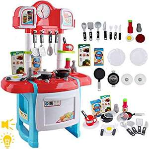 deAO My Little Chef Kitchen Playset Role Playing Game with Light and Sound - £12.74 - Sold by LittleOrangeTech / FBA (+£4.49 non-Prime)