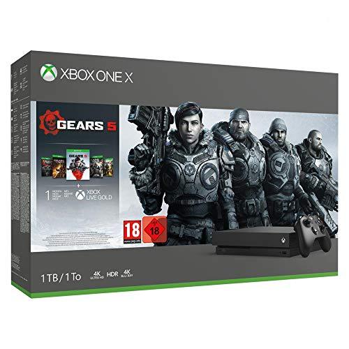 Microsoft Pack Xbox One X 1TB - Gears 5 £255.43 using a fee free card @ Amazon France