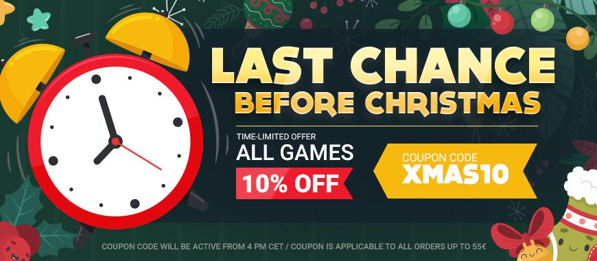 'Last Chance Before Xmas' Sale at Gamivo - 10% off all games using code XMAS10