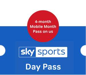 Sky Sports Day Pass + 4 months Sky Sports mobile pass £9.98 @ Now TV
