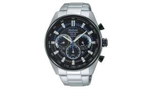 Pulsar Accelerator Men's Silver Stainless Steel Solar Watch £69.99 @ Argos (Free Collection)