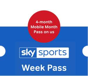 Sky Sports Week Pass + 4 months Sky Sports Mobile Pass - £14.99 @ Now TV
