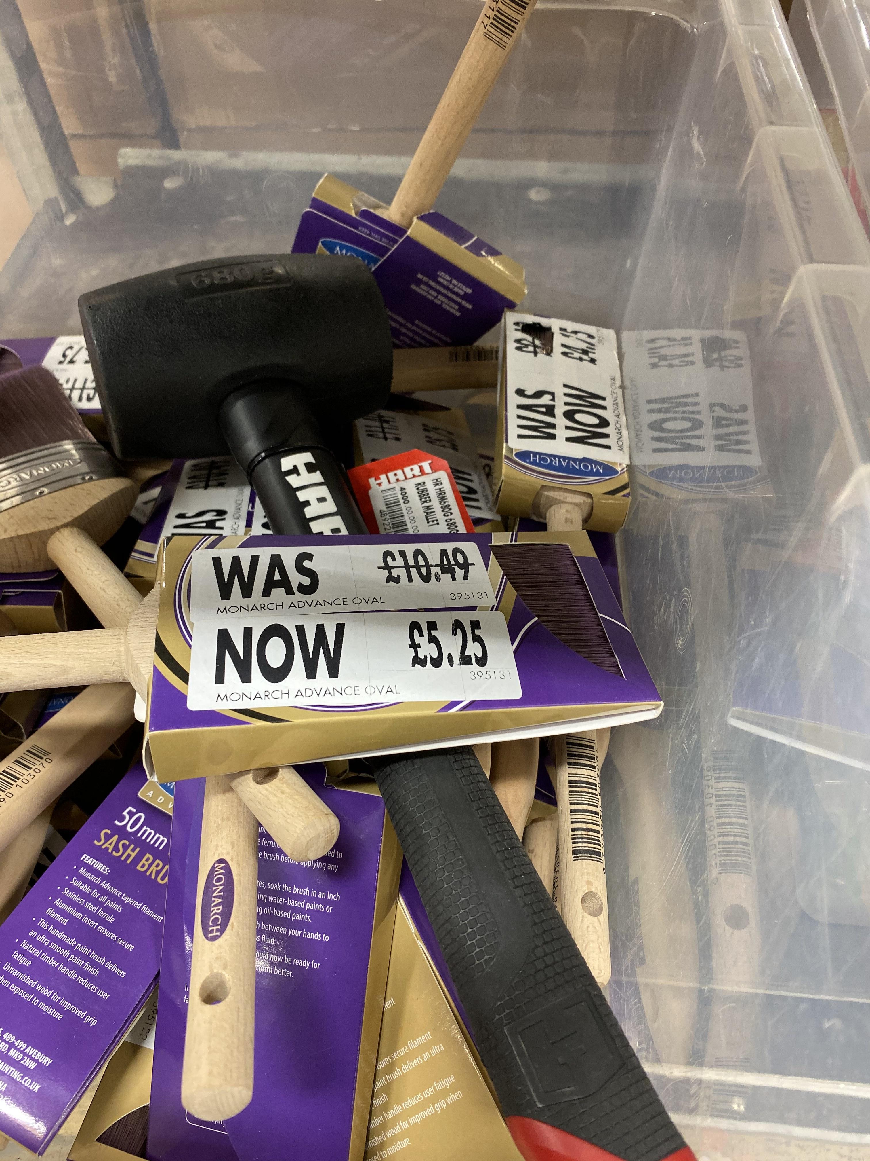 Monarch advance brushes half price Homebase Saffron Walden £5.25 instore