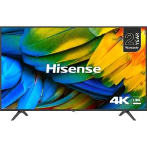 "Hisense H65B7100UK (2019) LED HDR 4K Ultra HD Smart TV, 65"" with Freeview Play, Black/Silver - £449.10 (With Code) @ AO"