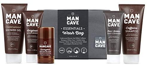 ManCave Essentials Wash Bag Set for £13.99 Prime/+£4.49 Non Prime @ Amazon UK