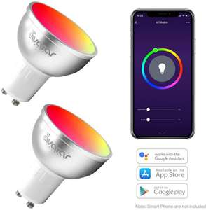 GU10 Smart Bulb WiFi Led Light Bulbs 5W=50W Works with Ale xa/Google Home Sold by Avatar Controls and FBA £18.90 Prime (£4.49 non Prime)