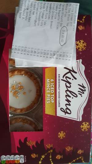 Mr Kipling Iced Top Mince Pies 62p instore @ Lidl Colchester
