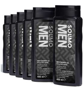 Amazon Brand - Solimo Men Shower Gel with Active Carbon- Pack of 6 (6 bottles x 400 ml) £5.76 (+£4.49 Non Prime) @ Amazon