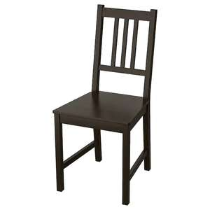 STEFAN Chair, brown-black Solid Wood £15 @ IKEA