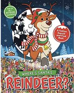 Where's Santa's Reindeer?: A Festive Search-and-Find Book - £1.50 (+£2.99 Non Prime) @ Amazon