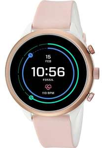 Fossil Womens Smartwatch with Silicone Strap Pink £111.47 @ Amazon