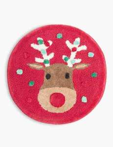Pure Cotton Reindeer Print Bath Mat £5 @ Marks & Spencer - Free C&C
