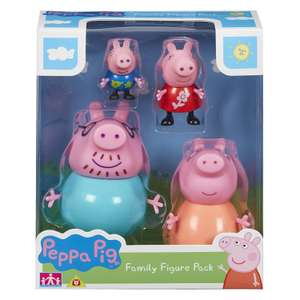 Peppa Pig Family Figure Pack (Mummy, Daddy, Peppa & George Figures) £5.82 (+£4.49 Non Prime) @ Amazon