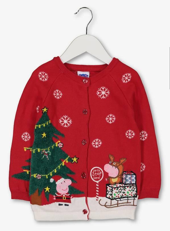 Christmas Peppa Pig Red Cardigan (1-1.5Y & 1.5-2Y (£3.90) 2-3Y (£4.20) @ Argos (Free Click & Collect)