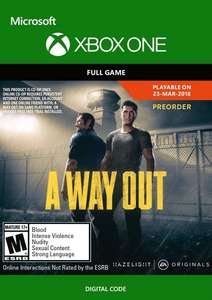 A Way Out Xbox One £8.25 Digital Delivery from Amazon