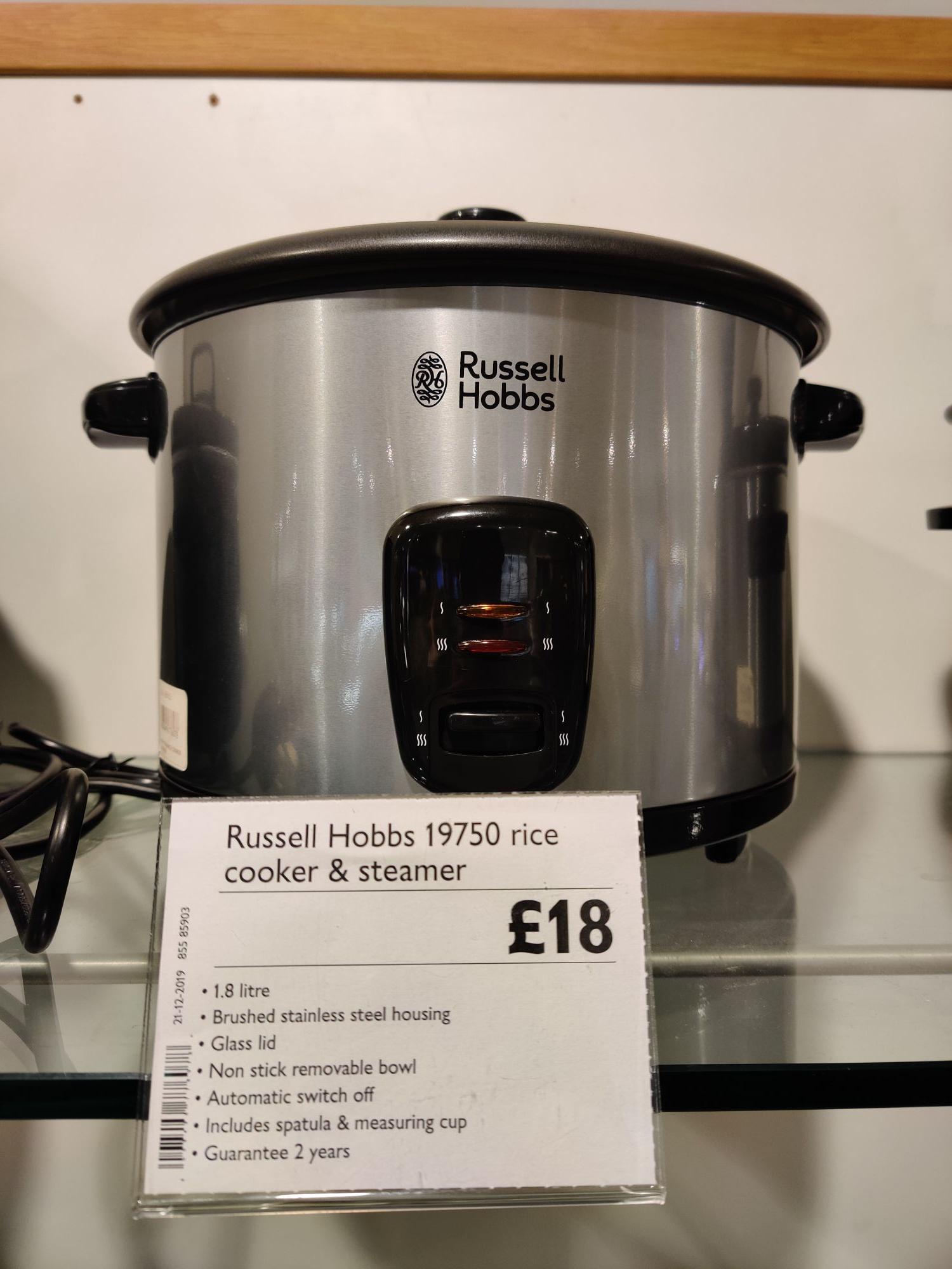 Russell Hobbs 19750 Rice Cooker - £18 @ John Lewis & Partners