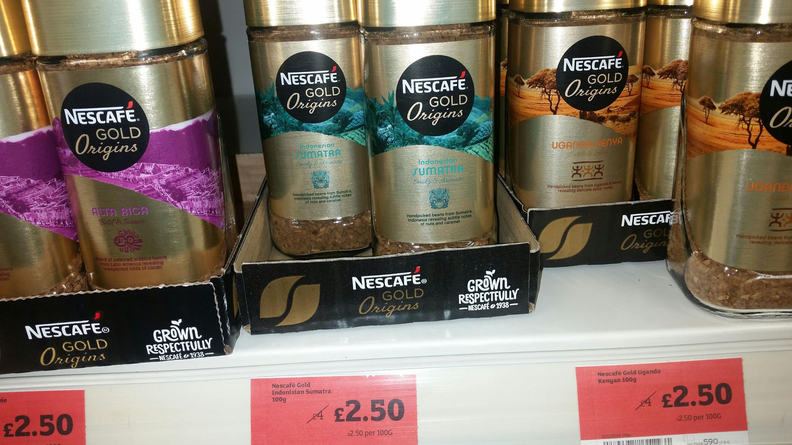 Nescafe origins 100grms - £2.50 instore and online @ Sainsbury's