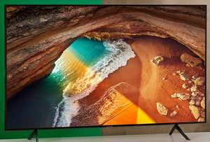 """Samsung QLED QE65Q60RA 65"""" Smart HDR 4K Ultra HD TV With 100% Colour Volume, Quantum Processor 4K, Ambient Mode and Apple TV - £999 @ AO"""