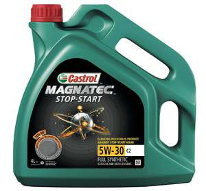 Castrol MAGNATEC 5W-30 C2 STOP-START Engine Oil 4L - £17.50 (prime) / £21.99 (non prime) @ Amazon