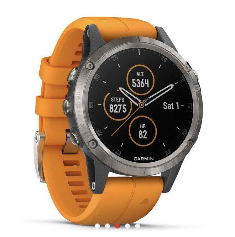 Fenix 5 Plus titanium Sapphire orange strap edition- £349.99 @ Sport Pursuit