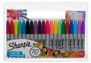 Sharpie Fine Permanent Markers Pack of 20 Assorted @ Ryman online for £7.99 (free C&C)