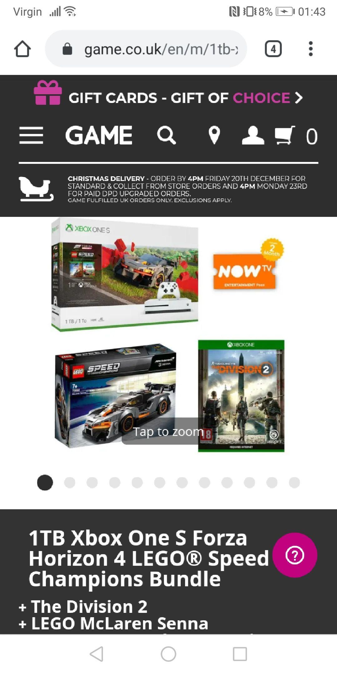 1TB Xbox One S Forza Horizon 4 LEGO® Speed Champions Bundle