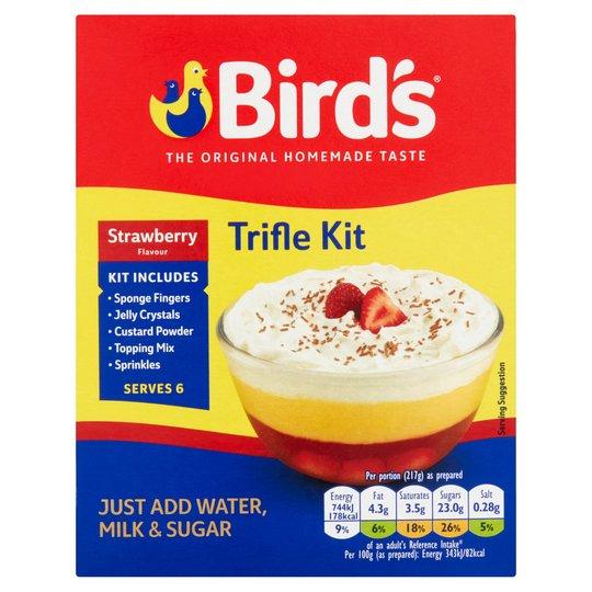 Bird's Strawberry Flavour Trifle Kit 141g / Smarties Milk Chocolate Giant Tube 130g / Christmas Pudding 100g £0.50 @ Iceland