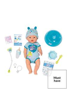 Baby Born Soft Touch Boy Doll £25.19 @ VERY Free C&C