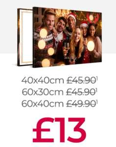 Save up to 80% on Canvas Prints! (40x40/60x30/60x40 £13) (75x50/80x60/90x60 £18) (100x50/100x75/120x80 £24) @ My-Picture (Add £5 Delivered)
