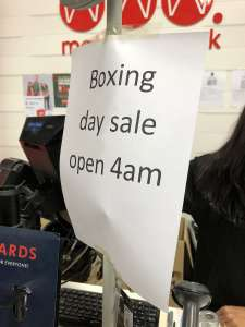 Spare a thought for the early starters on Boxing Day