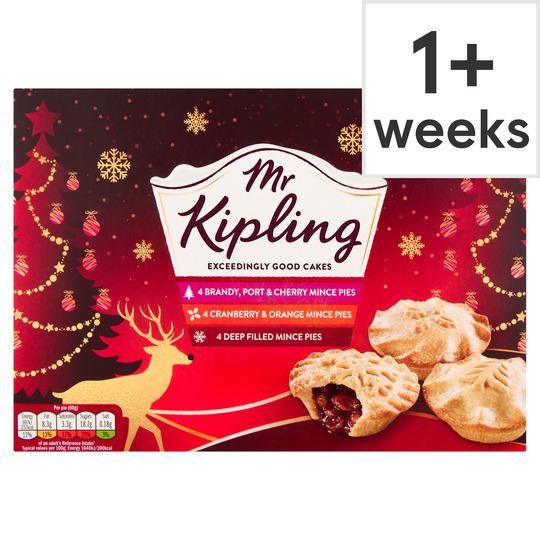 Mr Kipling 12pk Variety Mince Pies £2.00 & Tesco (Three Different Varieties of Mince Pie in one box)