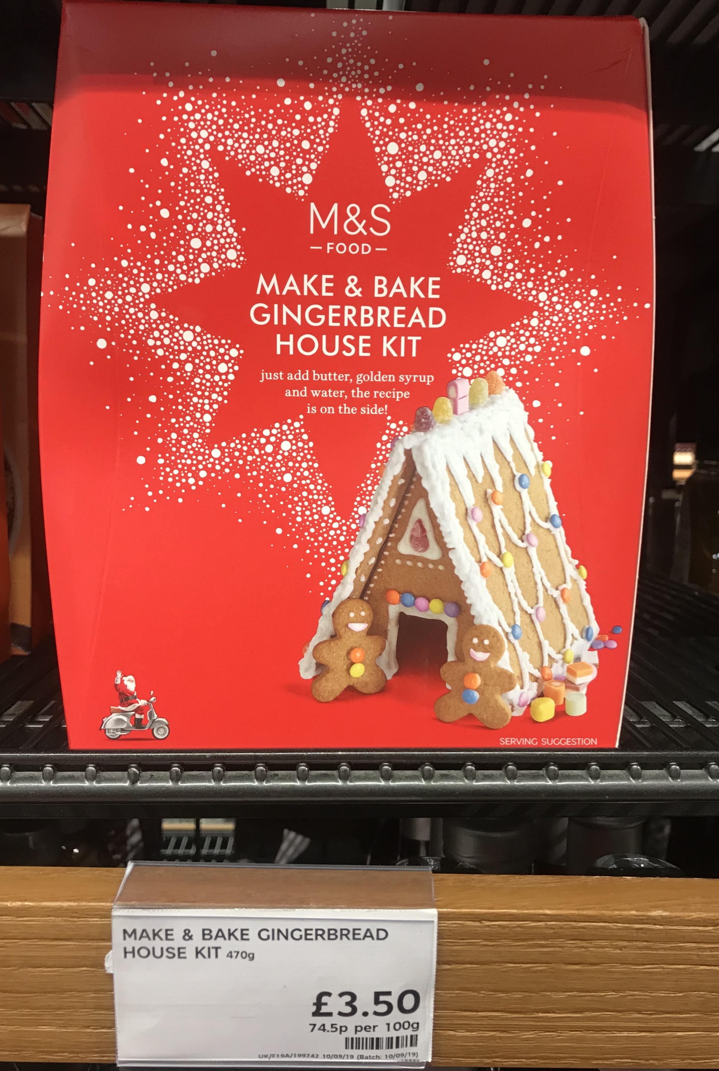 M&S Make & Bake Gingerbread House Kit £3.50 @ Marks & Spencers