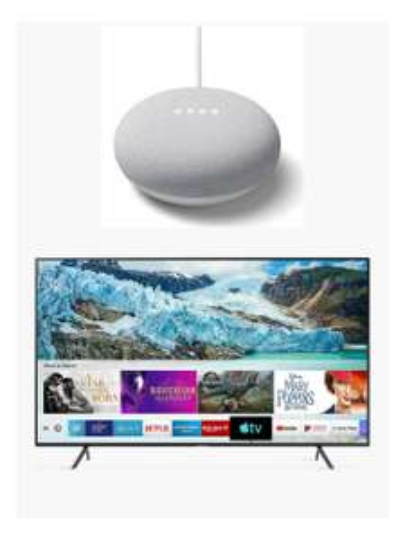 "Samsung UE50RU7100 (2019) HDR 4K Ultra HD Smart TV, 50"" + Free Google Nest Mini £399.99 @ John Lewis & Partners"