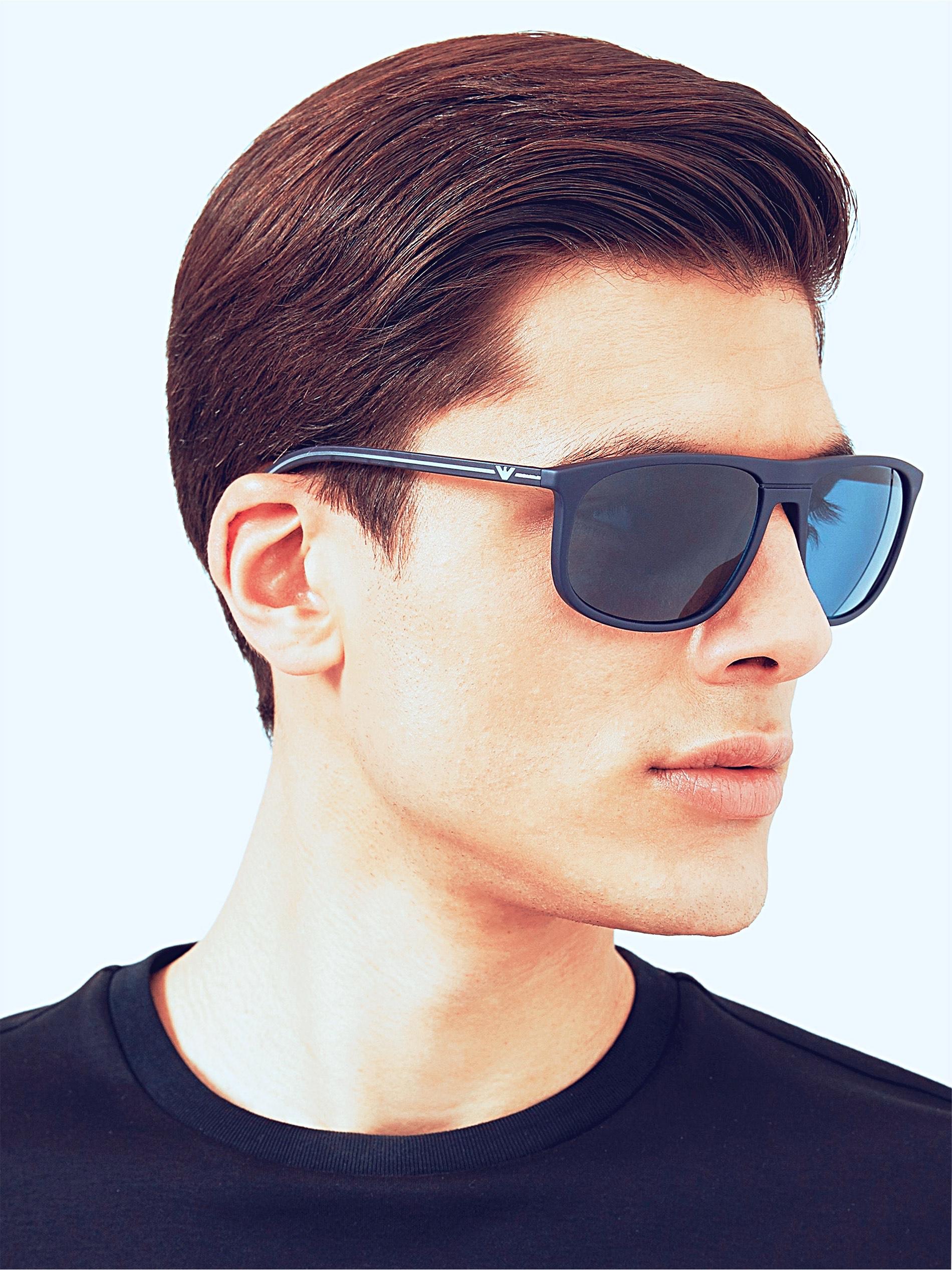 Emporio Armani EA4118 Men's Rectangular Sunglasses, Blue £47.95 at John Lewis & Partners