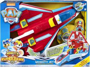 Paw Patrol 6053098 Super PAWs, 2-in-1 Transforming Mighty Pups Jet Command Centre 2019 - £23.99 @ Amazon