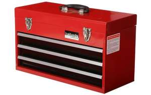 Professional 3 Drawer Metal Portable Tool Chest £25.50 using code at Halfords
