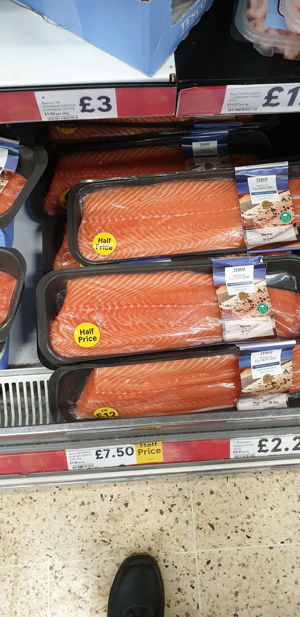 Boneless Salmon £7.50 per Kg @ Tesco Bristol