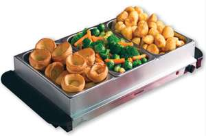 Daewoo Mains Powered Large Buffet Server Food Warmer - £17.99 + Free Click & Collect @ Robert Dyas