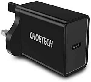 CHOETECH USB C PD Wall Charger -£7.83 using voucher Prime / +£4.49 non Prime Sold by JieXun and Fulfilled by Amazon